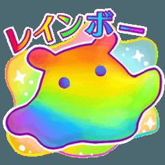 レインボー 虹色スタンプ