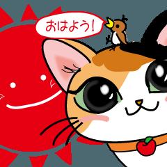 三毛猫ちゃんスタンプ