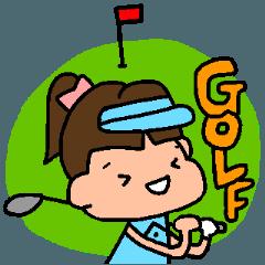 ゴルフ女子のまいにち