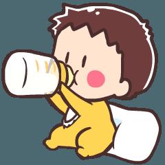 赤ちゃんスタンプ「ぱんだとおひめ」01