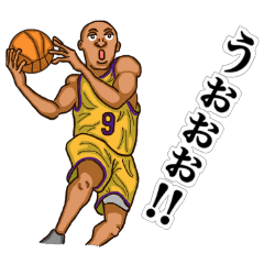 スポーツスタンプ(バスケットボール)