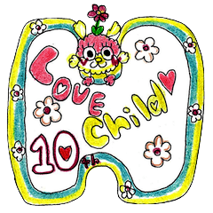 [LINEスタンプ] ♡LOVE⭐︎Child♡by♡HAPPY⭐︎HAPPY♡10thの画像(メイン)