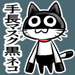 手長マスク黒ネコ