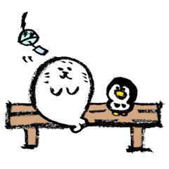 夏の筆ペンアザラシ