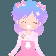 きらきらKawaii女の子2 アニメーション