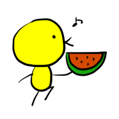 鳥星人スタンプ〜夏風味〜