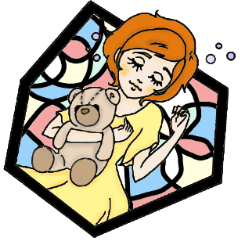 [LINEスタンプ] Stained Glass Girls (1)