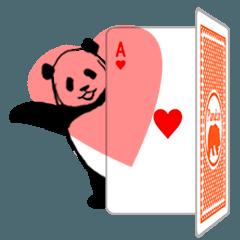 動く!やる気のないパンダ(トランプ編)