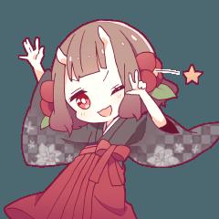 [LINEスタンプ] 小鬼の少女スタンプ (1)