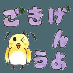 小鳥の名前はラブ。
