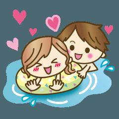 【動く】ゆるカップルのアツい夏♥