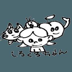 Monochrome cute sticker