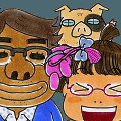 [LINEスタンプ] 犬マユ単行本購入感謝スタンプ(石塚2祐子) (1)