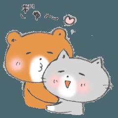 [LINEスタンプ] ポムくんとミィルちゃん (1)
