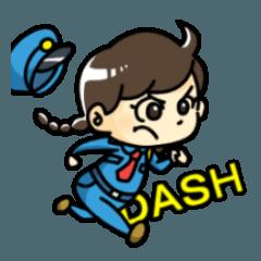 [LINEスタンプ] 警備員のトモミちゃん (1)