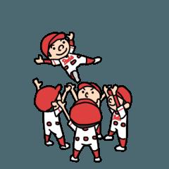 赤の少年野球スタンプ