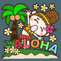 ハワイアンガールおちゃめの英語でコメント