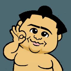 かわいいミニ力士の相撲スタンプ