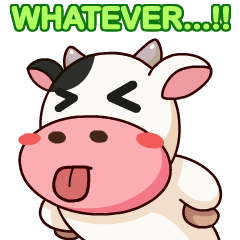 Momo Cow : Animate Sticker