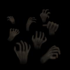動く暗闇の手