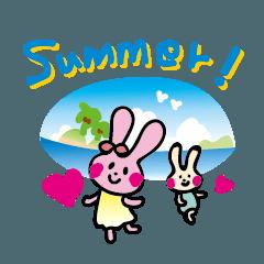 ウサギの夏休み