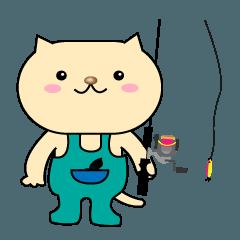 釣りを楽しむネコさん