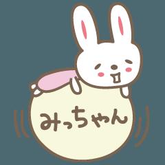 ミッチャンうさぎ rabbit for Micchan