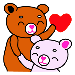 可愛いクマのカップル