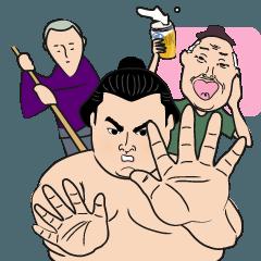 おもしろ大相撲スタンプ