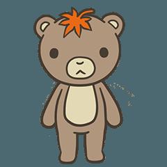 秋のクマさんスタンプ