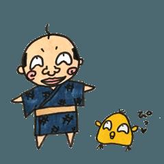 おじさんと鳥さん。夏。