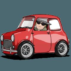 [LINEスタンプ] 動くミニサイズで可愛い車 (1)