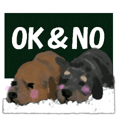 OK&NO版・イラストっぽい子犬2