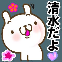 清水さんが使う名前スタンプ■改訂版