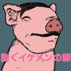 動くイケメンの豚〜