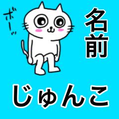 [LINEスタンプ] じゅんこ専用ジュンコが送る用名前スタンプ (1)