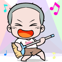 Skinhead Boy Animated Sticker