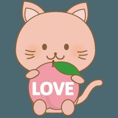 桃が大好きなももネコ