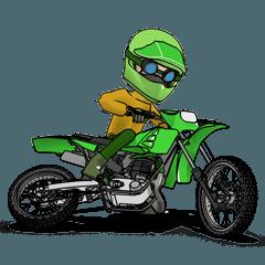 ライムグリーンのオフロードバイク!2