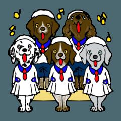 愉快な大型犬軍団
