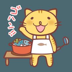 ネコとアルパカの使いやすいスタンプ