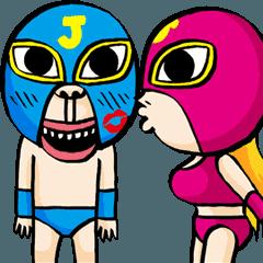 爆笑レスラー:ジョニー & バービー 日本語