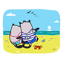 Cute cats in love (N.3) by trikono