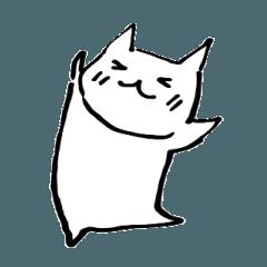 マンガ猫のスタンプ