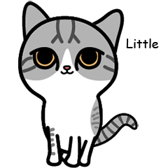 [LINEスタンプ] Little cotton candy cat (1)