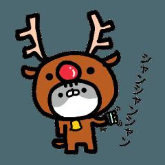 うめちゃんとまめちゃんの秋冬スタンプ