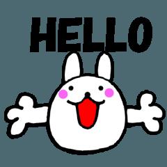 [LINEスタンプ] 主婦が作ったウサギ デカ文字時々敬語2の画像(メイン)