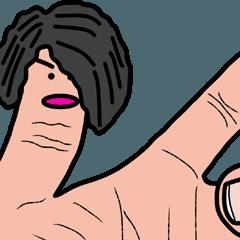 左手の指男くん