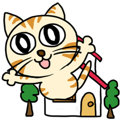 [LINEスタンプ] 家族に優しいゆかいな猫メイちゃん2の画像(メイン)